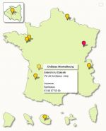 Interactive point locator Map of France