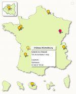 de France avec points de localisation cliquables