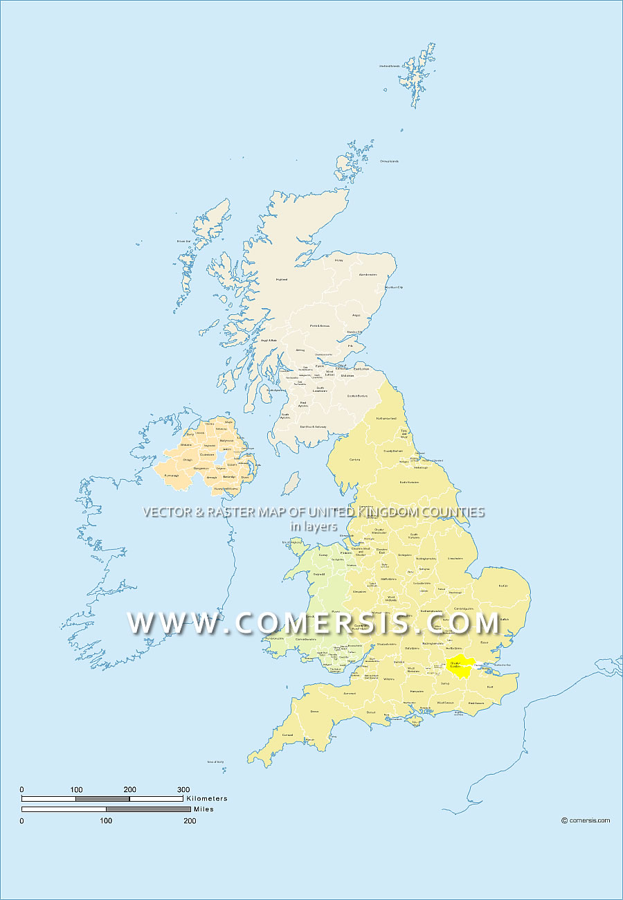 Maps Of United Kingdom - United kingdom clickable map