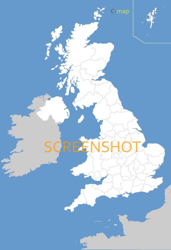 des régions de Grande Bretagne (Royaume Uni)