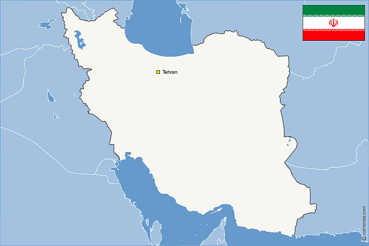 Iran free vector map and neighboring countries