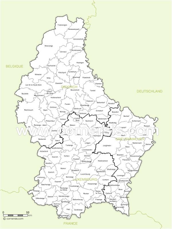 communes du Luxembourg avec noms