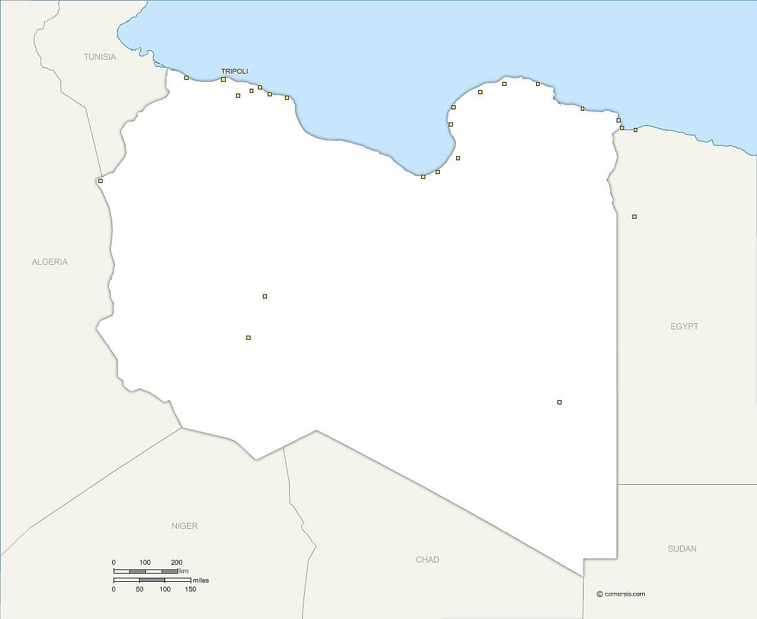 Libya (Libyan Arab Jamahiriya) free vector map