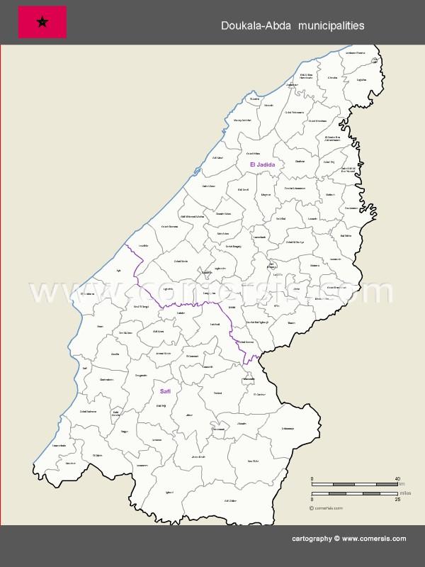 Municipalités de la région de Doukala-Abda