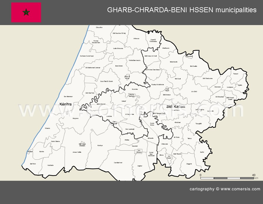 Provinces et municipalités de la région de Gharb-Chrarda-Beni-Hssen