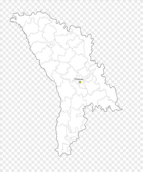 Free Vector Map Of Moldova With Subdivisions - Moldova map vector