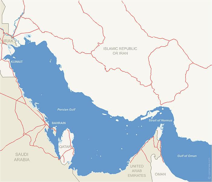 Straight-of-Hormuz free map