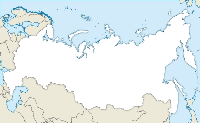 Free vector map of Russia