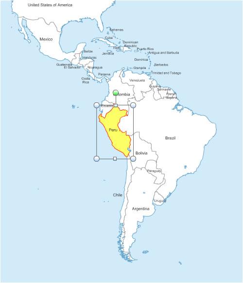 des États d' Amérique du Sud pour Word et Excel