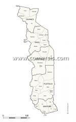 Régions et prefectures du Togo pour Office Word et Excel