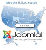 USA clickable and manageable map Joomla module