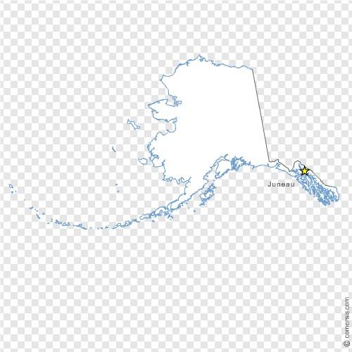 Alaska Ak Us State Free Vector Map