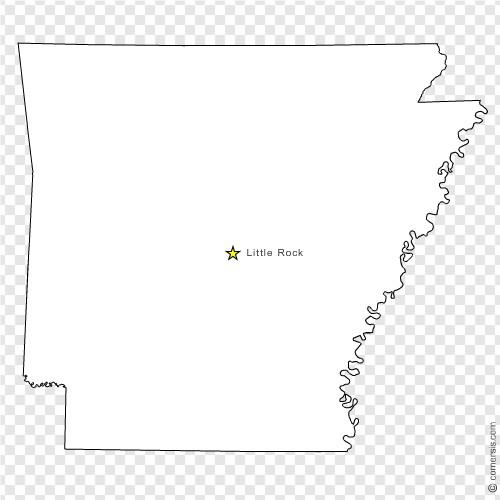 Arkansas AR US STATE Free Vector Map - Arkansas on us map