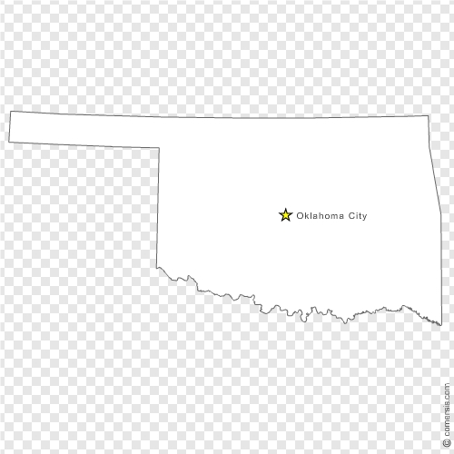 Oklahoma OK US State Free Vector Map - Us map eps