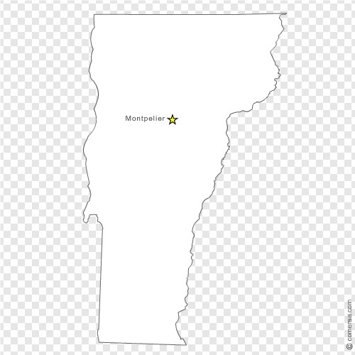 Vermont VT US State Free Vector Map - Us map eps