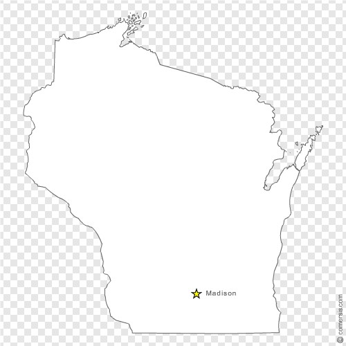 Wisconsin WI US STATE Free Vector Map - Us map eps