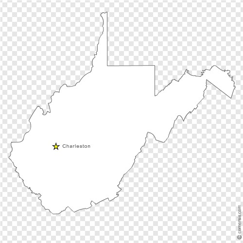 West Virginia (WV) US STATE free vector map