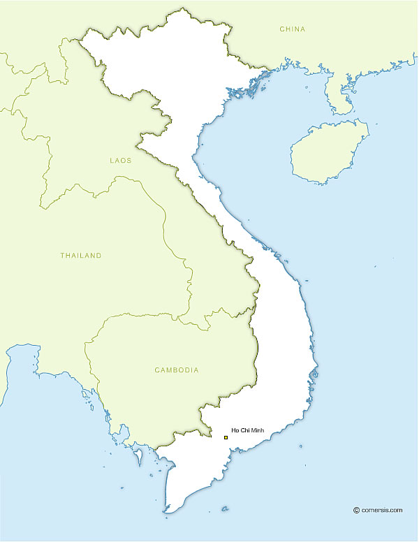 Free editable map of Viet Nam