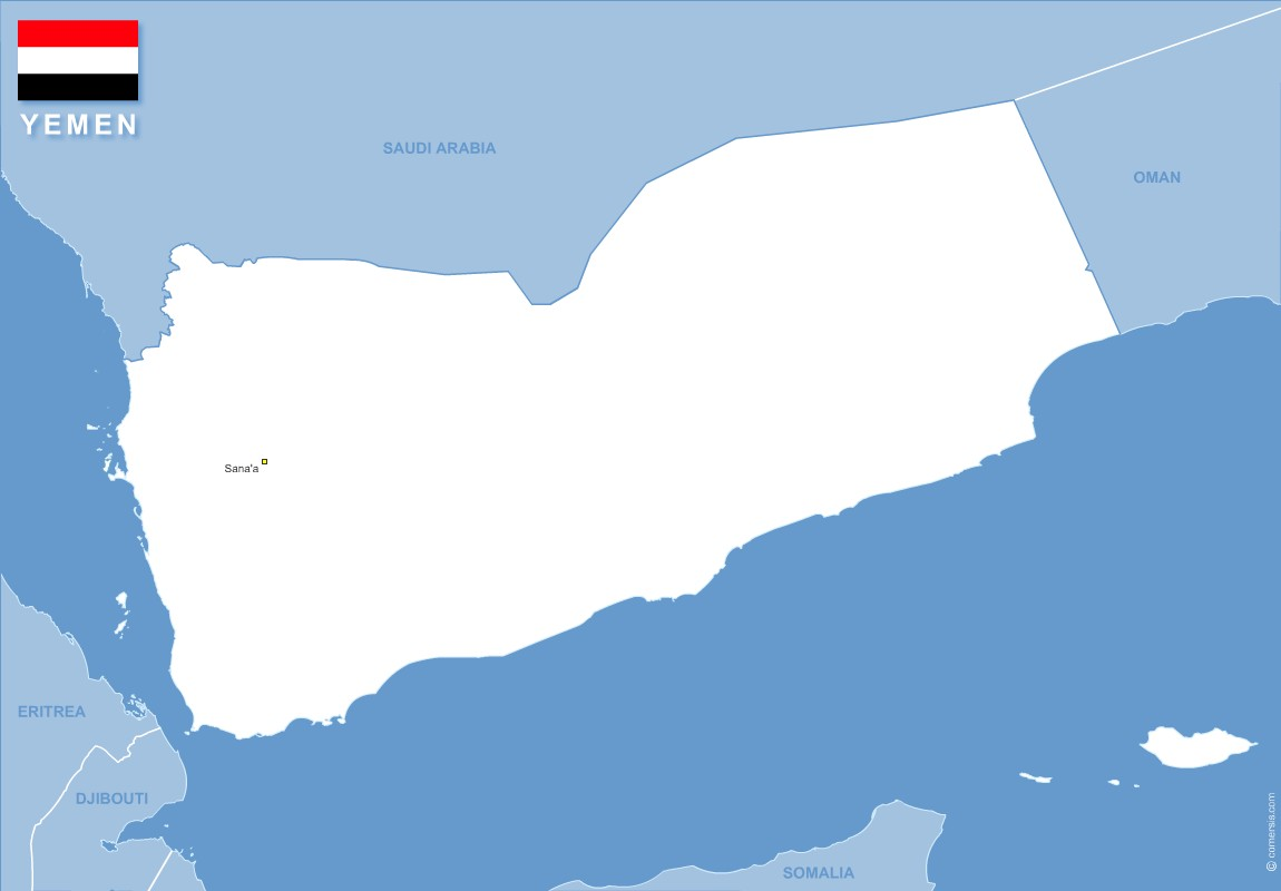 Free Eps and Svg map of Yemen