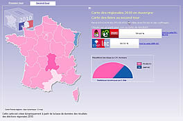 Carte interactive de co-voiturage